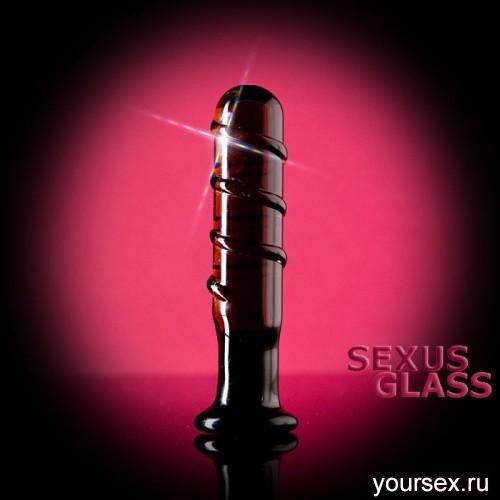 Фаллоимитатор Sexus Glass рельефный - 12 см