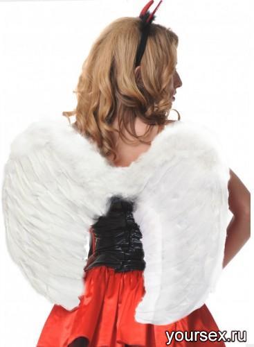 Крылья Le Frivole закругленные белые, One Size