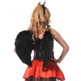 Крылья Le Frivole закругленные черные, One Size