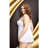 Ночная Сорочка и Стринги Soft Line Tanya белые, XL