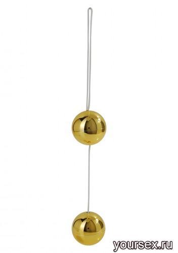 Вагинальные Шарики Candy Balls Lux, золотистые