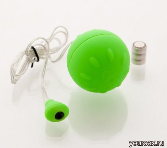 Виброяйцо Sexus Funny Five зеленое - 4.5 см