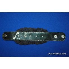 Запястник Готика-III черный, подшитый