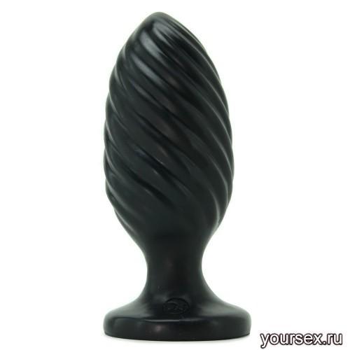 Анальная Пробка Platinum Premium Silicone The Swirl, черная