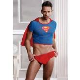 Костюм Супермена Candy Boy красно-голубой-OS