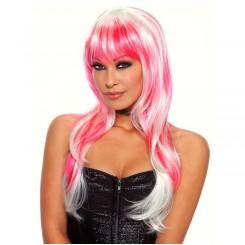 Парик бело-розовый Candy
