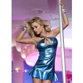 Платье с Открытой Спиной синее-OS