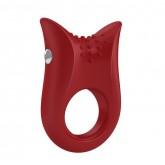 Эрекционное Кольцо OVO B2 VIBRATING RING с Вибропулей красное
