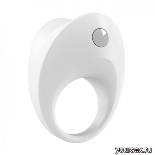Эрекционное Кольцо OVO B10 VIBRATING RING белое