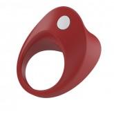 Эрекционное Кольцо OVO B11 VIBRATING RING с Вибропулей красное