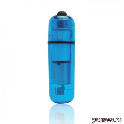 Компактный Стимулятор Вибро-Пулька Lux Fetish синий