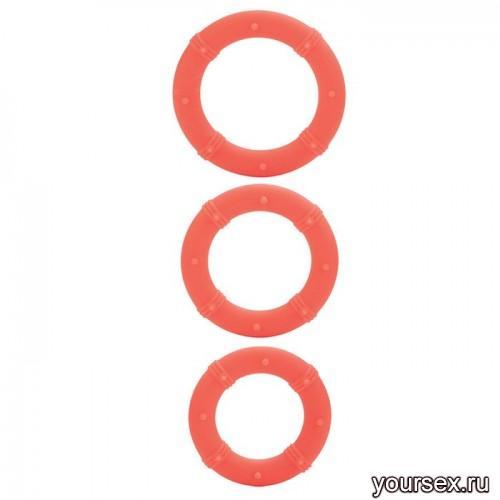Набор Эрекционных Колец Posh Silicone Love Rings оранжевый