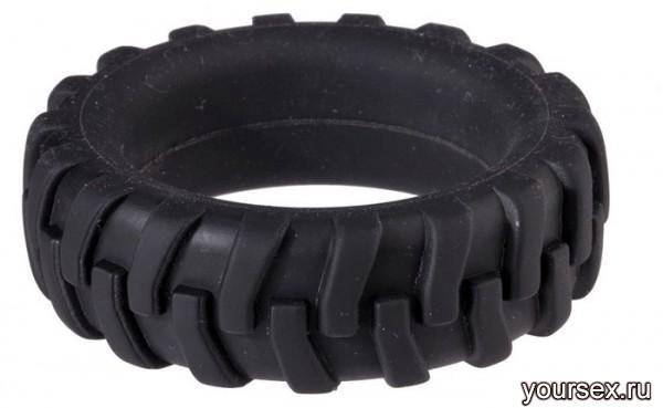 Насадка для Пениса MENZSTUFF PENIS TIRE в Виде Шины черная  3,2 см