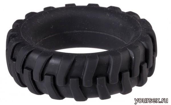 Насадка для Пениса MENZSTUFF PENIS TIRE в Виде Шины черная  4,2 см