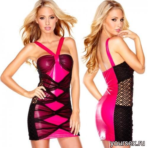 Розовое Платье Hustler Sweet Candy L