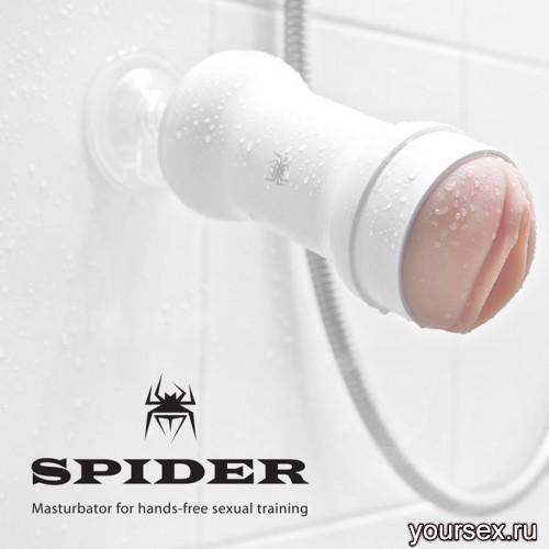 Spider Realism вагина hands free белый