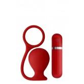 Вибровтулка Анальная MENZSTUFF ASS CORK WIDE RED красная - 7,5 см