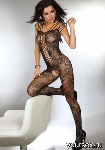 Чулок на Тело Livia Corsetti Nikandra, черный S/L