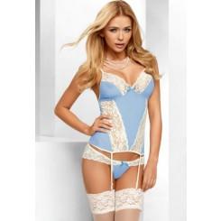 Корсаж и Трусики Avanua Eden corset, голубой XXL/XXXL
