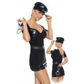 Костюм Полицейской Roxana черный - S