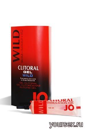 Возбуждающий Гель для Клитора JO сильного действия Clitoral Wild, 10 мл