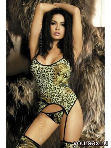 Игровой Костюм Obsessive Pristine Komplet, размер S/M, цвет леопардовый
