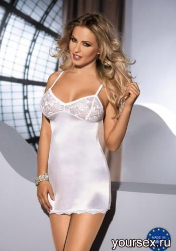 Сорочка Avanua Malika cream, белый S/M