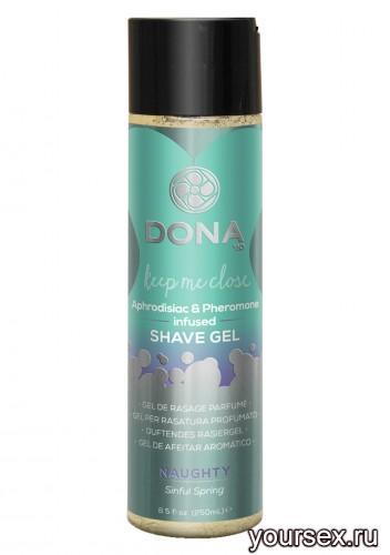 Гель для душа и бритья DONA Shave Gel Naughty Aroma: Sinful Spring 250 мл