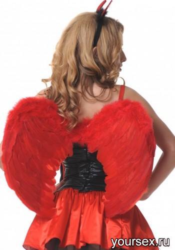 Крылья ангела Accessories перьевые 60х50см красный