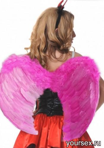 Крылья ангела Accessories перьевые 60х50см розовые