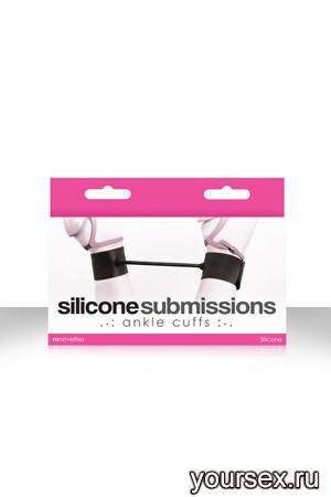 Наножники силиконовые Silicone Submissions Ankle Cuffs черные