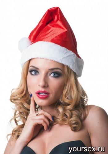 Шикарный новогодний колпак Accessories  блестящий