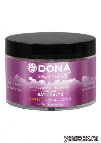 Соль для ванны DONA Bath Salt Sassy Aroma: Tropical Tease 215 г