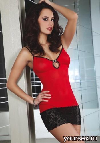 Сорочка Livia Corsetti Constance Red-black, красный, L/XL