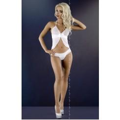 Белая сорочка и стринги Angela L/XL