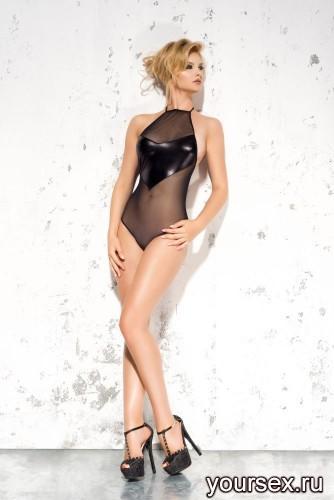 Черное боди Emma L/XL