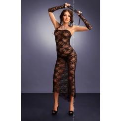 Комплект Branca: сорочка, стринги и митенки S/M