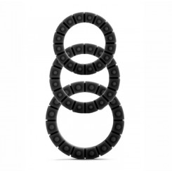 Набор эрекционных колец Silicone Love Wheel 3 sizes, черный