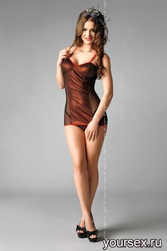 Сорочка и стринги Rita L/XL