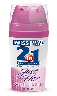Swiss Navy 2В1 Just For Her для нее с двумя дозаторами 2х25мл