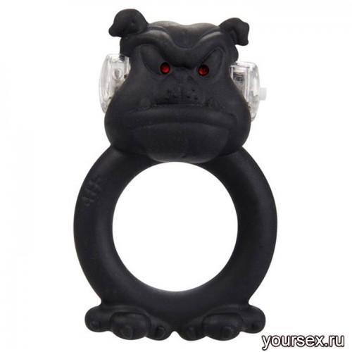 Вибронасадка Beasty Toys Barbaric Bulldog черная
