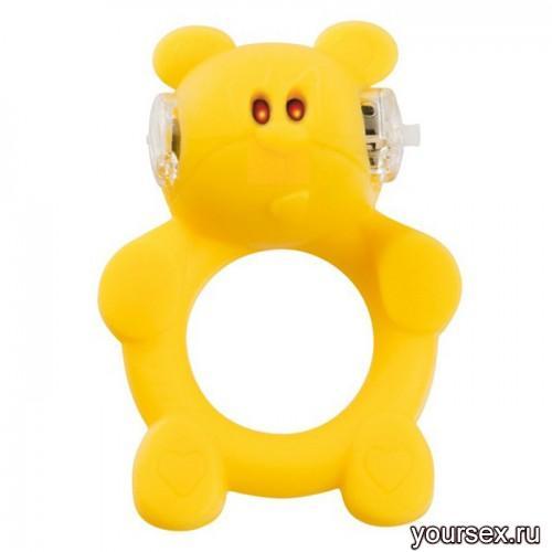 Вибронасадка Beasty Toys Brutal Bear желтая