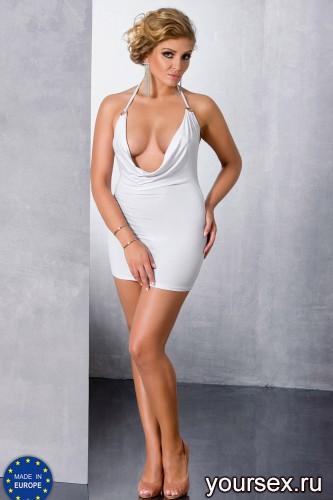 Белое мини-платье Miracle 6XL/7XL