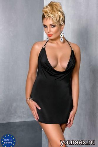 Черное мини-платье Miracle 6XL/7XL
