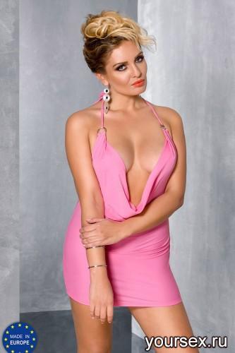 Розовое мини-платье Miracle 6XL/7XL