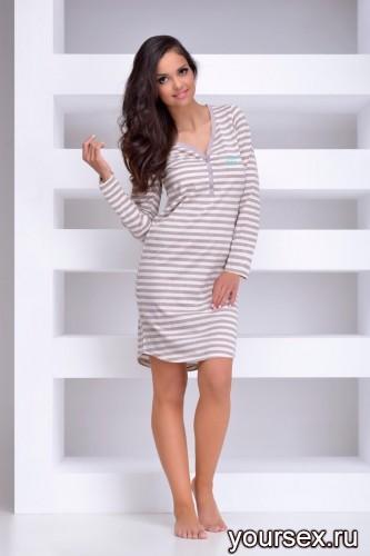 Бежевая сорочка Tamara XL