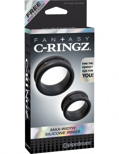 Эрекционные кольца широкие 2шт в наборе Max-Width Silicone Rings C-Ringz