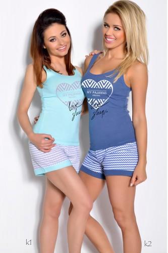 Голубая футболка и шорты Bogda S