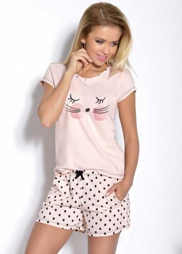 Персиковая футболка и шорты Wanesa S