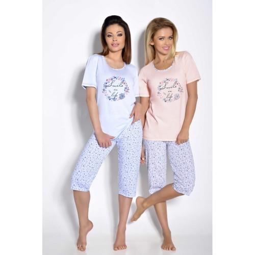 Розовая футболка и бриджи Magda XL